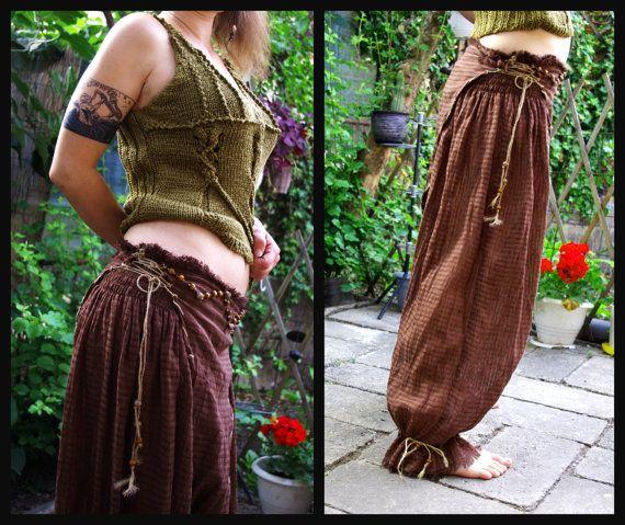 Barfuß-Göttin rustikale Hosen Yoga Hosen Drop von IsNoGoodWear
