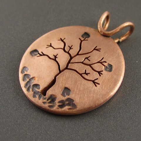 Autumn in Michigan Copper Tree Pendant – Beth Millner Jewelry