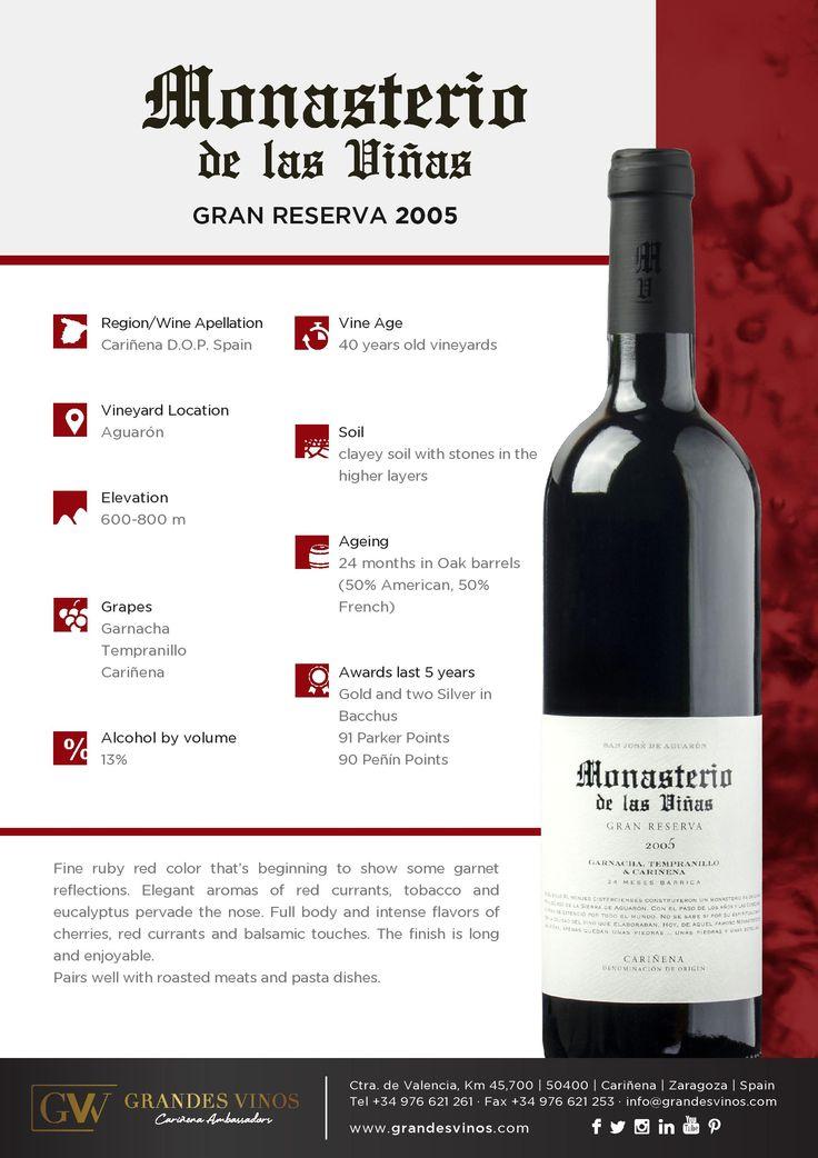 2005 Monasterio de las Vinas Gran Reserva. Had it as a special wine of October 2015. Velvety and smooth, with berries and dark fruit. Very nice. 88/100