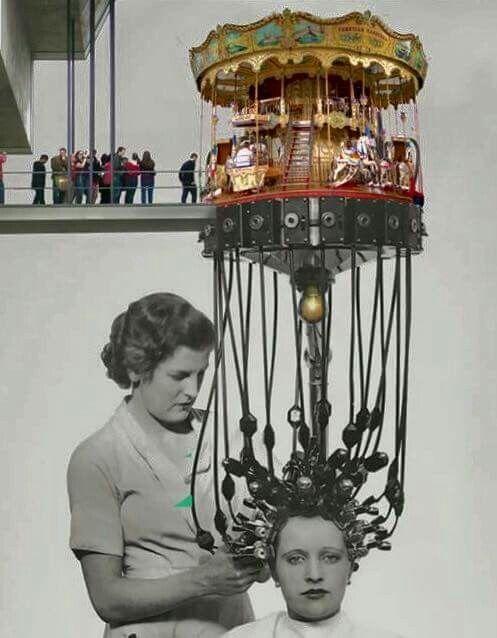 """CyP200 - """"Tengo la música de los caballitos metida en el sentido"""" Collage / Artist unknown"""