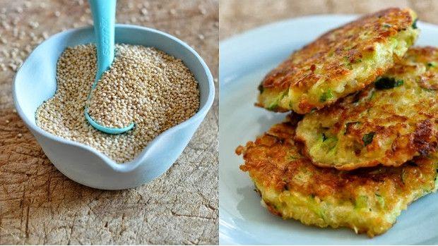 Quinoa – cuketové placičky hl.mouku nahradit kukuřičnou