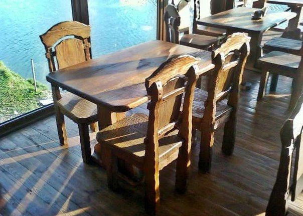 """Мебель для кафе, бара, ресторана. Дерево - сосна, дуб, бук, ясень. Стол """"Ришелье"""", стул """"Ришелье""""."""