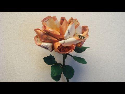 Geld falten Geldgeschenk basteln | flora-shop.eu