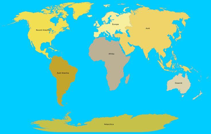 Op deze website kun je de 7 werelddelen/ continenten oefenen.