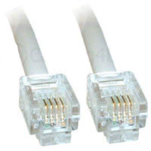 20m ADSL-Kabel - Premium-Qualität / vergoldete Kontaktstifte / High-Speed-Internet-Breitband / Router oder Modem auf RJ11 Telefondose oder Mikrofilter / weiß #ADSL #Kabel #Premium #Qualität #vergoldete #Kontaktstifte #High #Speed #Internet #Breitband #Router #oder #Modem #Telefondose #Mikrofilter #weiß