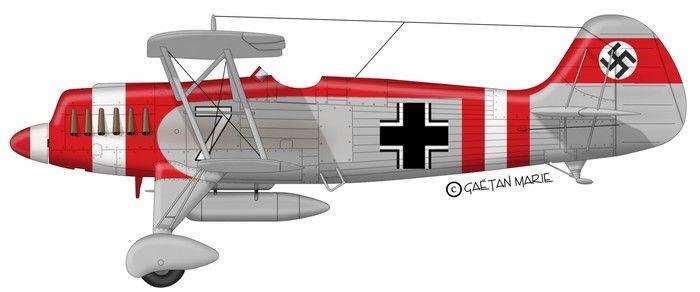 """He 51 of JG 132 """"Richtofen"""", I. Gruppe, 2 Staffel"""