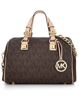 MICHAEL Micheal Kors Handbag, Grayson Monogram Medium Satchel - Shop All -  Handbags Accessories -