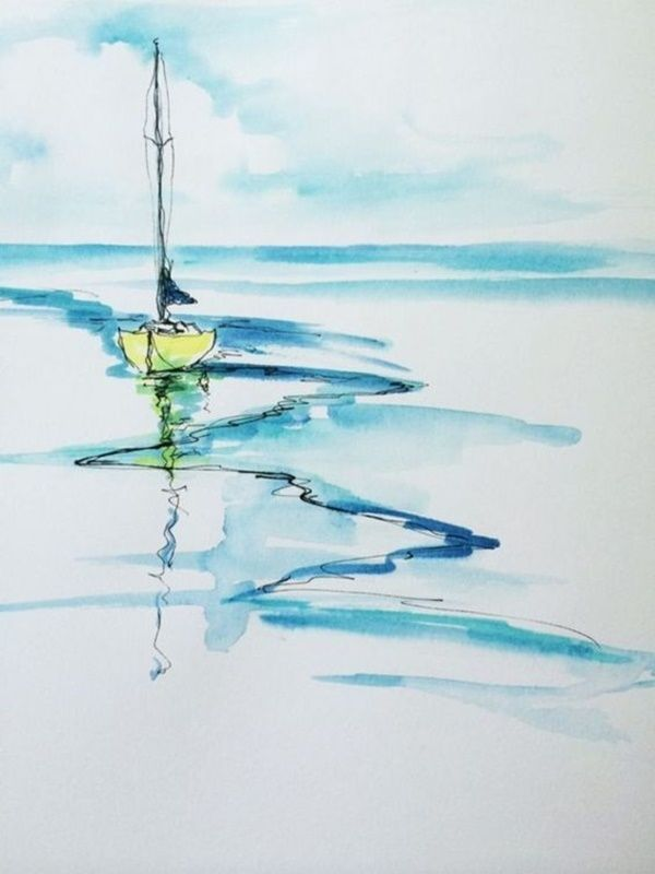 80 Einfache Aquarell Malideen Watercolor Paintings For Beginners