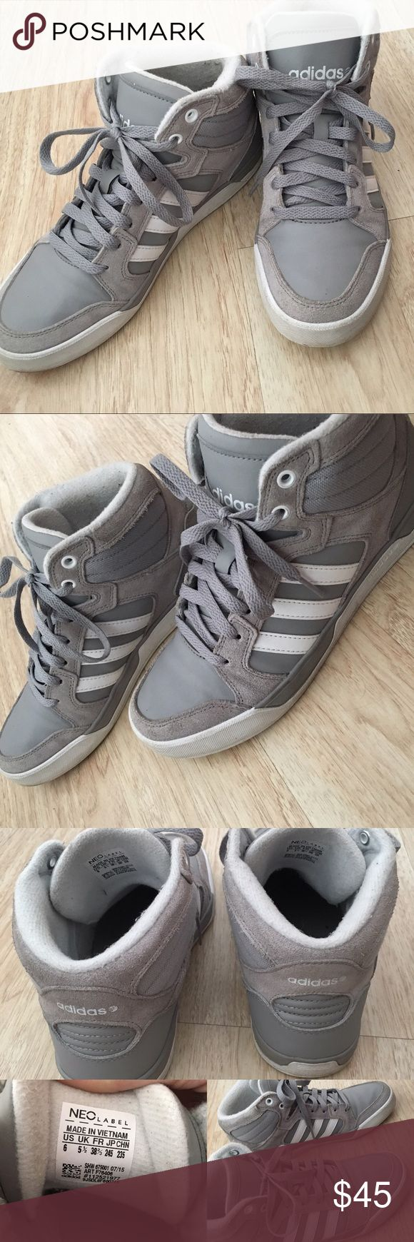 Adidas Neo Label Mid Shoes Gently loved, in wonderful condition. Not scuffed up... same style as the shoe in the last picture but not the exact same. I'm a size 8 in women's and they fit me perfectly. Adidas Shoes Sneakers