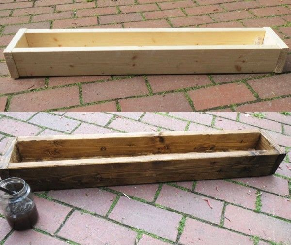 Holz altern lassen: Kaffee + Essig + Stahlwolle.