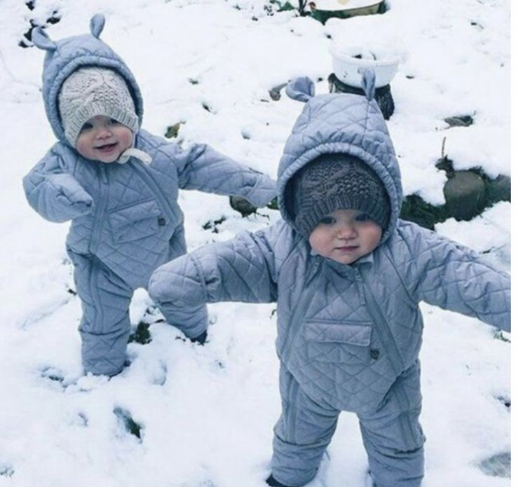 This is what my sister and I used to look like after Mom bundled us up to go outside.