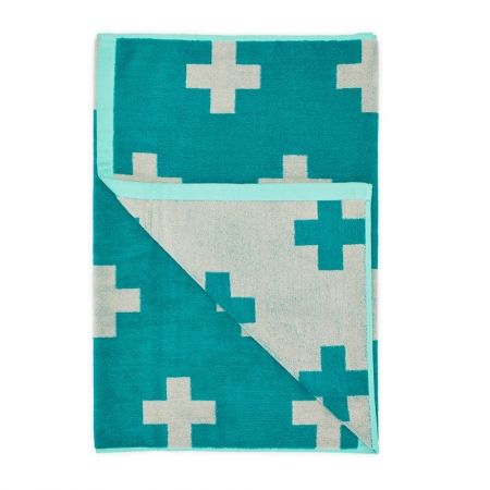 Crosses towel collection (various colours) - Image Jade Bath Towel. Christmas in #htfstyle