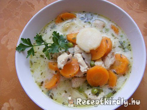Tárkonyos pulykaragu leves