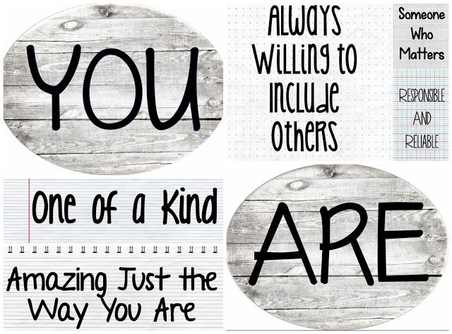 Happy Back-to-School!! Ready to print and display! Entirely Elementary...School Counseling: YOU ARE...Bulletin Board