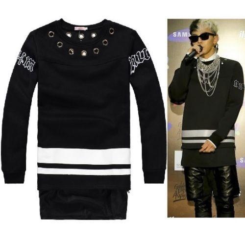 Mens G Dragon Ring Emb Big Bang GD KPOP Punk Sweater Rap Hip Hop | eBay