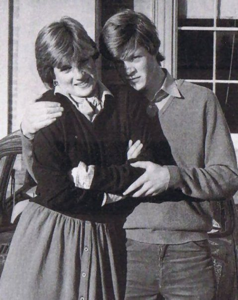 Lady Diana Spencer & her brother Charles, Viscount Althorp