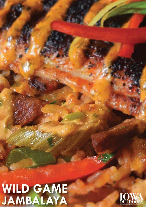 Wild game jambalaya recipe from the chefs at Atlas World Grill in Iowa City   Iowa Outdoors Magazine #MardiGras