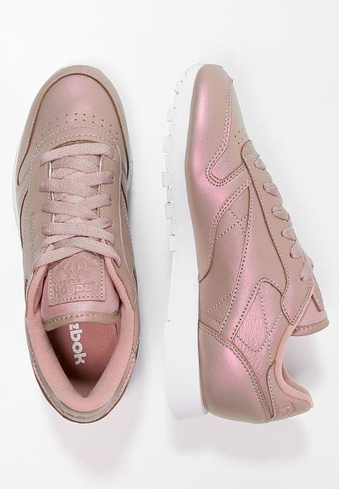 Reebok Classic CLASSIC LEATHER PEARLIZED - Sneaker low - rose gold/white - Zalando.de