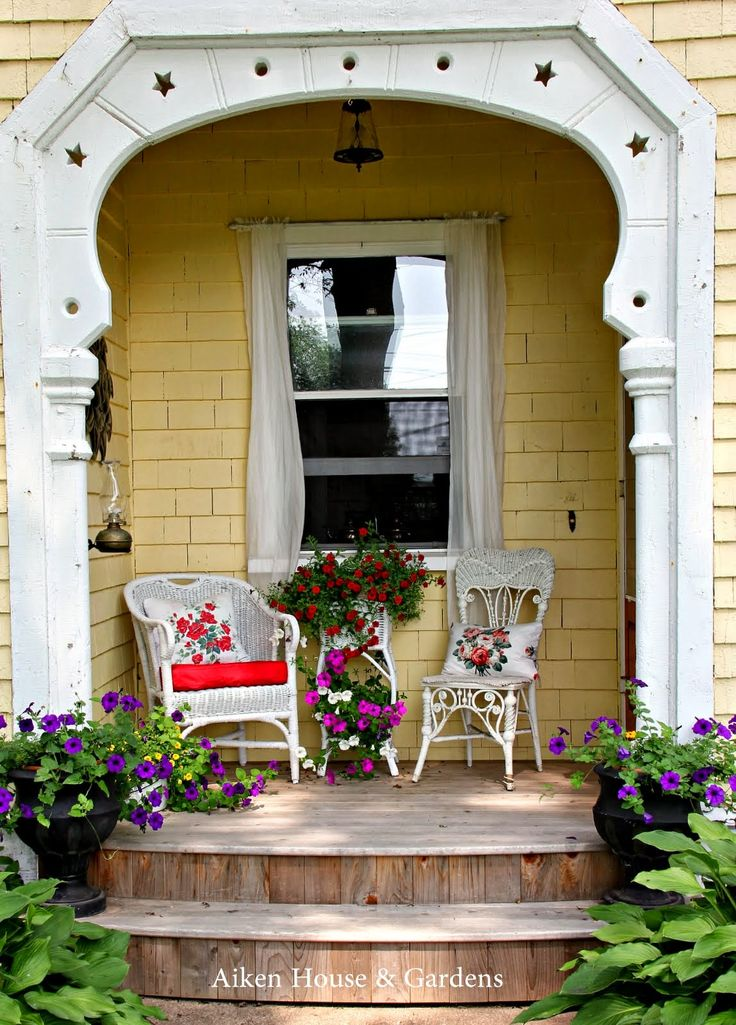 Best 477 Cottage Porch Images On Pinterest Home Decor