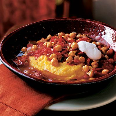 Chickpeas and polenta