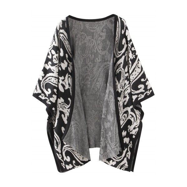 Women's Floral Graphic Batwing Sleeve Open Front Cardigan ($21) ❤ liked on Polyvore featuring tops, cardigans, outerwear, jackets, coats, floral cardigan, flower print cardigan, floral open cardigan, open cardigan and bat sleeve tops