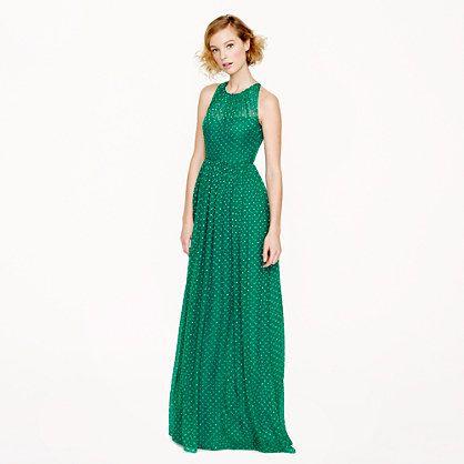 J.Crew - Pre-order Collection Megan long dress in polka dot