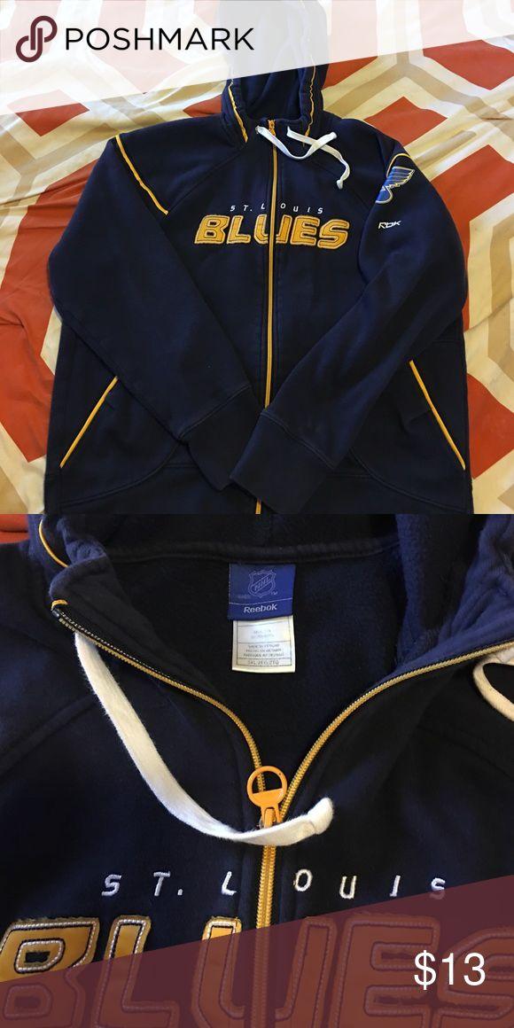 St. Louis Blues hoodie Gently worn Ladies St. Louis Blues zip up hoodie size XXL (runs small more true to size XL) Reebok Tops Sweatshirts & Hoodies