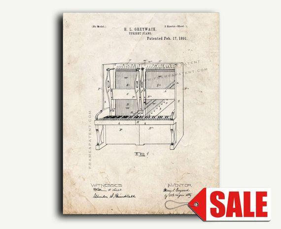 Buffetpiano Patent Print Dit octrooi voor een buffetpiano werd uitgevonden door Henry Greywack en geplaatst op 23 mei 1890. Het werd uitgegeven op 17 februari 1891 door de United States Patent and Trademark Office. -Alle Patent Posters en Prints zijn gedrukt op premium zwaargewicht archivering documenten -Afgedrukt met archival inkten bedoeld om afgelopen jaar -Patent kunstwerk is een geweldig cadeau idee! -Gemakkelijk te Frame (of zie onze toevoegen een optie Frame) Papieropties: -Zwarte…