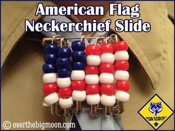 cub scout crafts | Cub Scout Flag neckerchief slide
