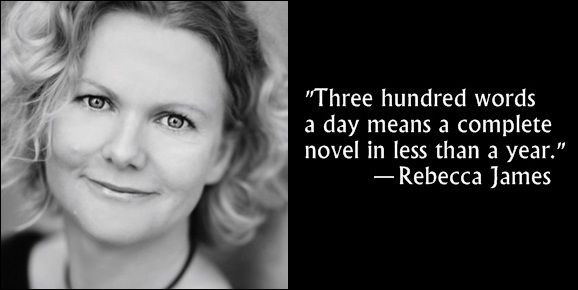 Rebecca James's six excellent and actionable writing tips.  Real advice from great authors on getting off to a #WriteStart this New Year.