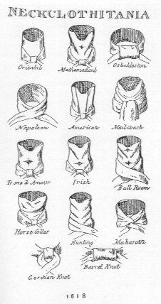 """Neckcloth-it is best to start with a piece of light, crisp cloth (originally would have been linen, but a quality cotton or silk taffeta should also work) about 10"""" x 60"""". For the styles with pleats or highstanding collars, the fabric may give a better effect if starched (although it will also be more uncomfortable, sad to say!)"""