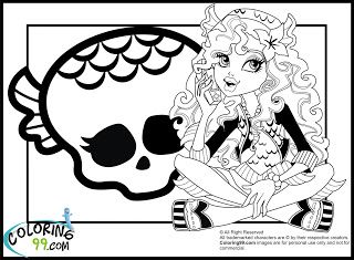 177 best Monster High Coloring Pages images on Pinterest
