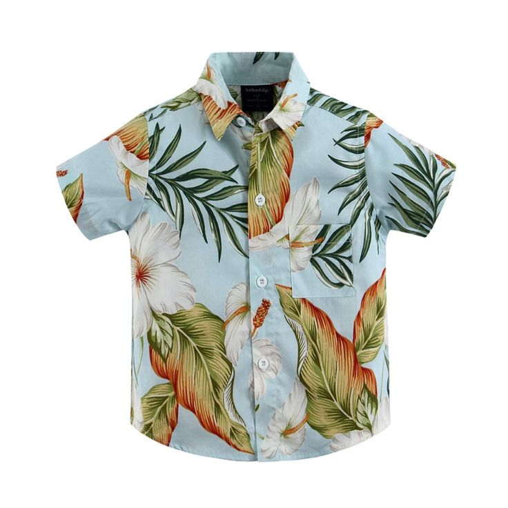 2015 new arrival  cotton 100% floral shirt hawaiian shirt aloha shirt for boy T1527