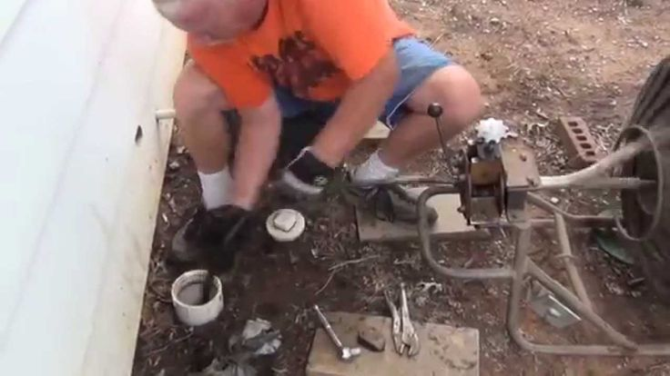 How to clean a main line sewer blockage instructional