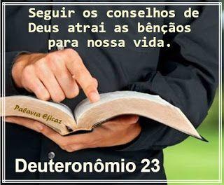 Palavra e Ação : Orientações – Deuteronômio  23