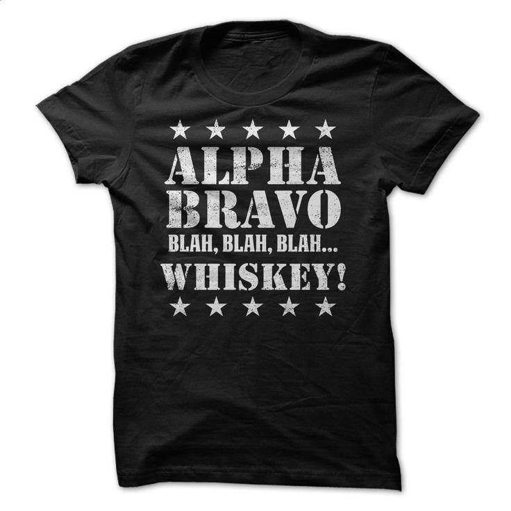 Alpha Bravo Whiskey T Shirts, Hoodies, Sweatshirts - #t shirts design #make your own t shirts. BUY NOW => https://www.sunfrog.com/Funny/Alpha-Bravo-Whiskey.html?60505