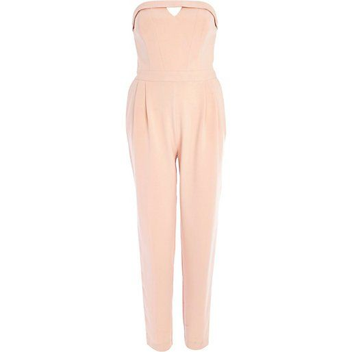 Pin for Later: 13 preiswerte Kleidungsstücke, die nicht danach aussehen River Island Strapless Jumpsuit River Island Light Pink Bandeau Jumpsuit ($110)
