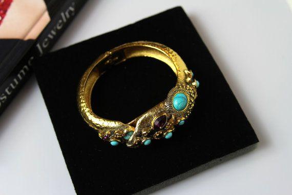Jose & Maria Barrera Multi-Stone Snake Bracelet  422 by Jewelrin  #BarreraBracelet #FashionBarrera #SerpentBracelet #Jewelrin