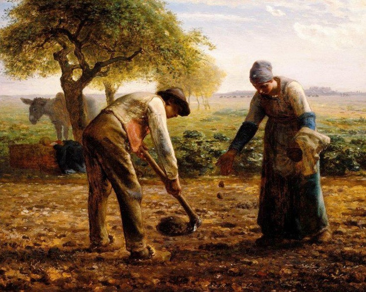 Jean-François Millet, Piantatori di patate, 1861