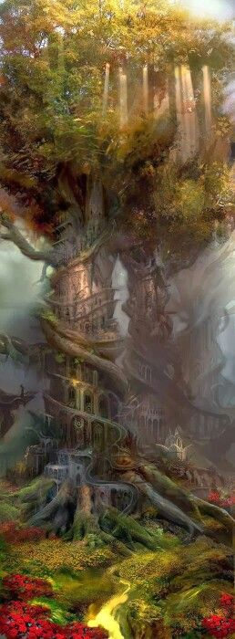 Faeryland Glamour; when you are in the sights of a faery their allure and glamour is very powerful. Elves, Faeries, Gnomes, Faery Tree.