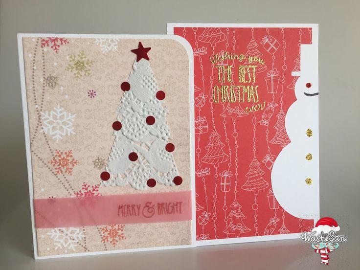 mr washisan tarjetas navideas muy fciles de hacer con blondas y con