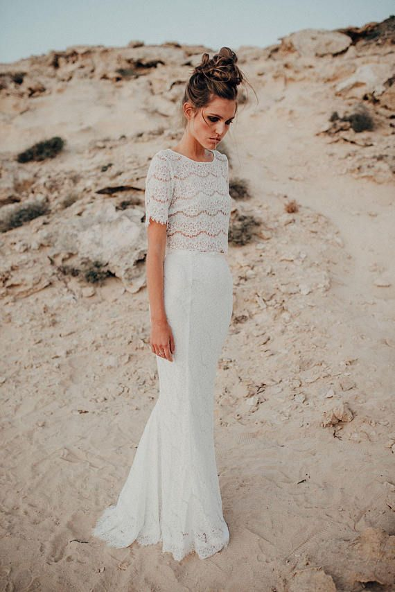 Bridal Separates Wedding Separates Two Piece Wedding Dress