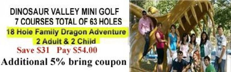 Dinosaur Valley Mini Golf Coupon - Save $31 + 5% more with coupon