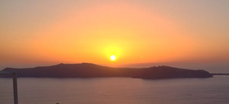 October in Santorini !  Beautiful sunset colors from Imerovigli !