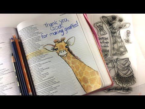 Christmas Bible Craft 1: Bible Journaling gift page (Psalm 104:24) - YouTube