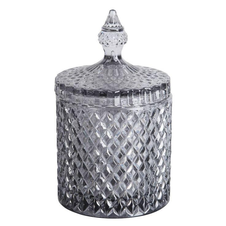 Bonbonniere aus grau getöntem Glas   Maisons du Monde