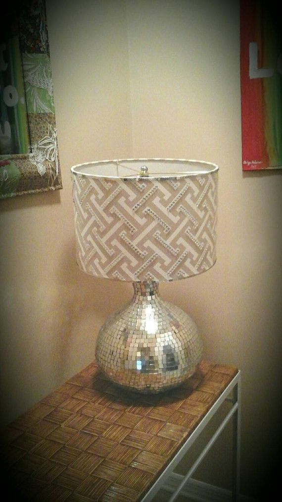 99 best drum lampshades images on pinterest drum drums and lamp silver lamp shade large graywhitesilvergeometric drum lamp shade with bling accents aloadofball Choice Image