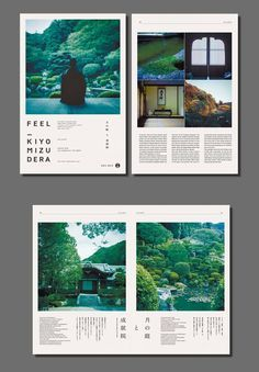 The photos here are breathtaking. The grid-based layout on the second page organizes the photos and text for maximum impact, guiding the eye smoothly around the page. The design makes the most of the white space in an artistic, and logical presentation.
