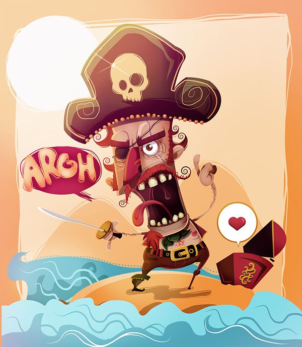PIRATE KEEPER on Behance ★ Find more at http://www.pinterest.com/competing