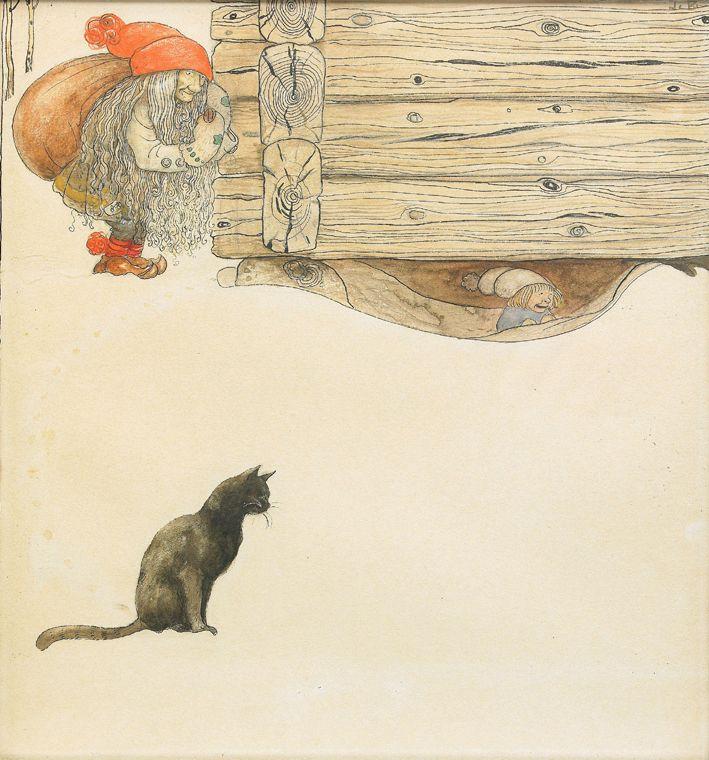 John Bauer (1882-1918) - Artworks from 'Julklappen', 1912
